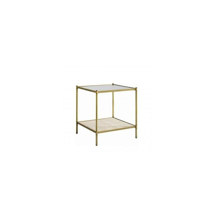 Стол ANSON SIDE TABLE -GLASS-SHAGREEN
