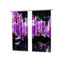 Фотошторы в спальню: Цветение орхидеи