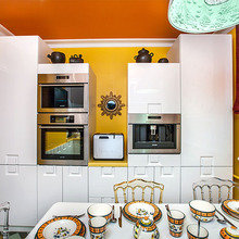 Фотография: Кухня и столовая в стиле Кантри, Современный, Эклектика, Интерьер комнат – фото на InMyRoom.ru