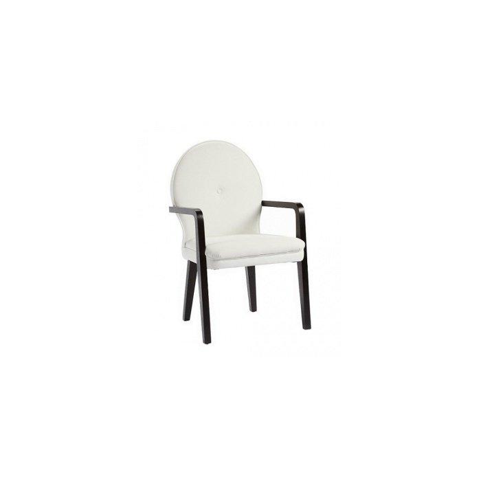 Кресло Louise белое с подлокотниками