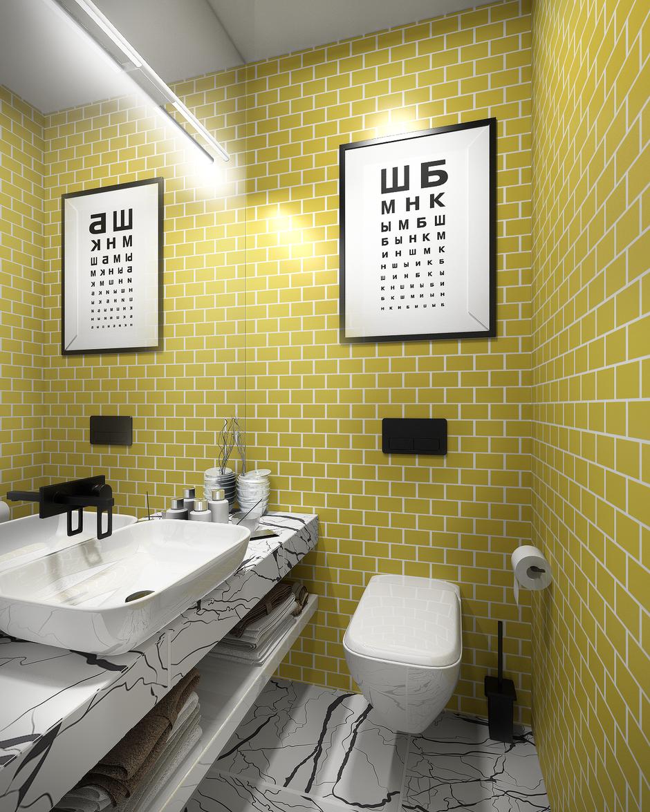 Фотография: Ванная в стиле Скандинавский, Квартира, Проект недели, Анастасия Туганова – фото на InMyRoom.ru
