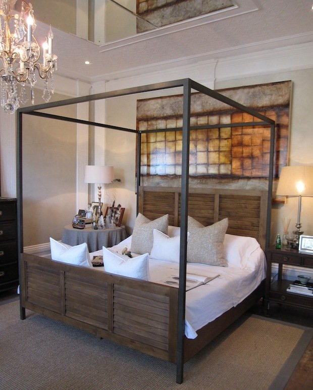 Фотография: Спальня в стиле Лофт, Декор интерьера, Мебель и свет, Балдахин – фото на InMyRoom.ru