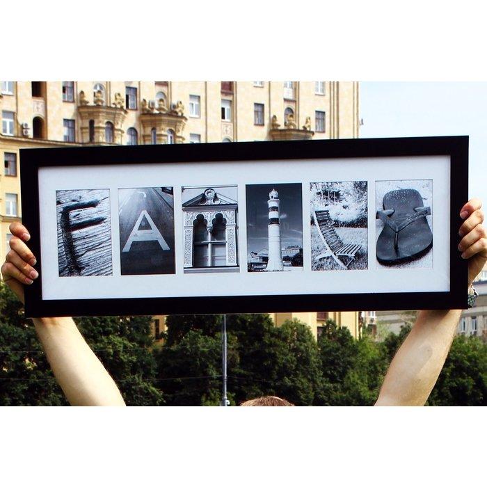 Фотокартина FAMILY - слово из фотографий