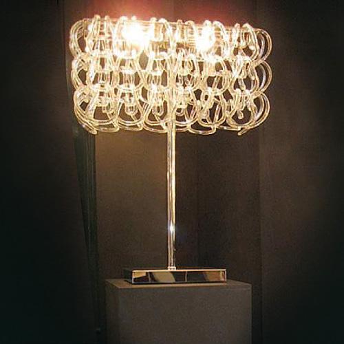 Купить Настольная лампа Jago с кольцами из прозрачного муранского стекла, inmyroom, Италия