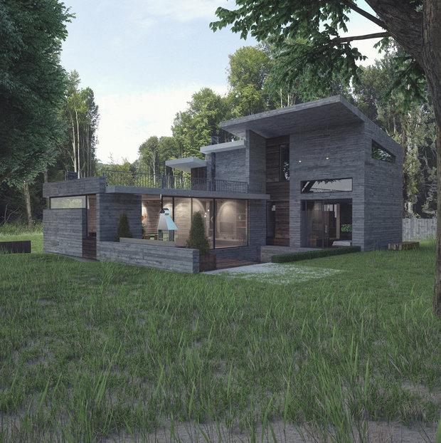 Фото из портфолио Concrete House – фотографии дизайна интерьеров на INMYROOM