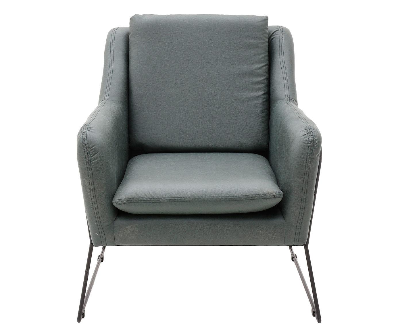 Купить Интерьерное кресло серого цвета на металлических ножках, inmyroom, Греция
