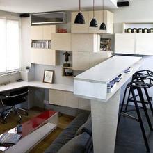 Фотография: Гостиная в стиле Лофт, Малогабаритная квартира, Квартира, Дома и квартиры – фото на InMyRoom.ru