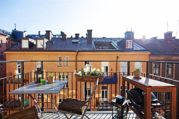 Фотография: Балкон, Терраса в стиле Прованс и Кантри, Скандинавский, Малогабаритная квартира, Квартира, Дома и квартиры – фото на InMyRoom.ru