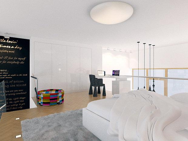 Фотография: Спальня в стиле Лофт, Современный, Декор интерьера, Квартира, Artemide, Axo Light, Moooi, Дома и квартиры, Проект недели – фото на InMyRoom.ru