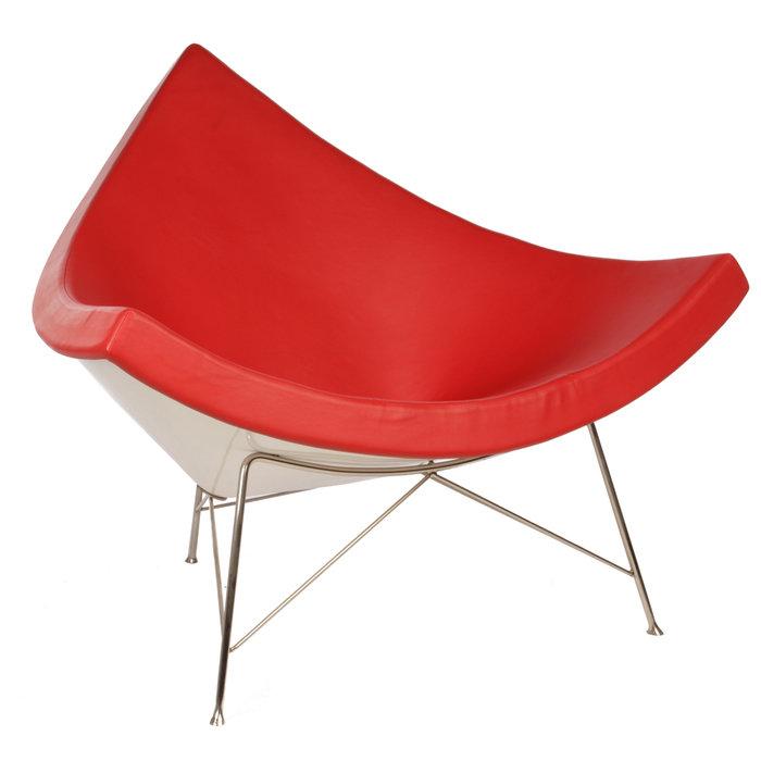 Кресло George Nelson Style Coconut Chair красная кожа