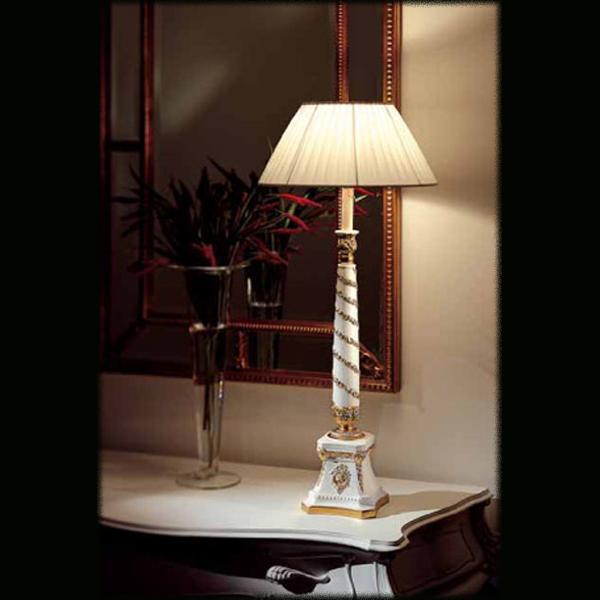 Купить Настольная лампа Casali с абажуром из плотной белой ткани, inmyroom, Италия