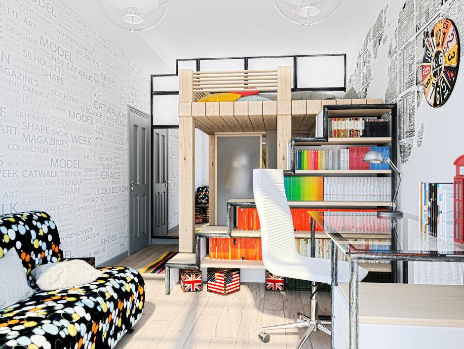Фотография: Детская в стиле Современный, Лофт, Квартира, Дома и квартиры, Проект недели, Москва – фото на InMyRoom.ru