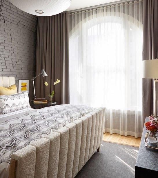 Фотография: Спальня в стиле Лофт, Декор интерьера, Текстиль, Шторы – фото на InMyRoom.ru