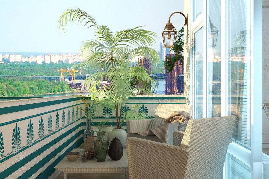 Фотография: Балкон, Терраса в стиле Восточный, Квартира, Дома и квартиры, Проект недели, Средиземноморский – фото на InMyRoom.ru