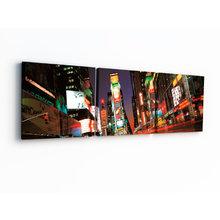 Модульная картина на холсте: Ночной мегаполис