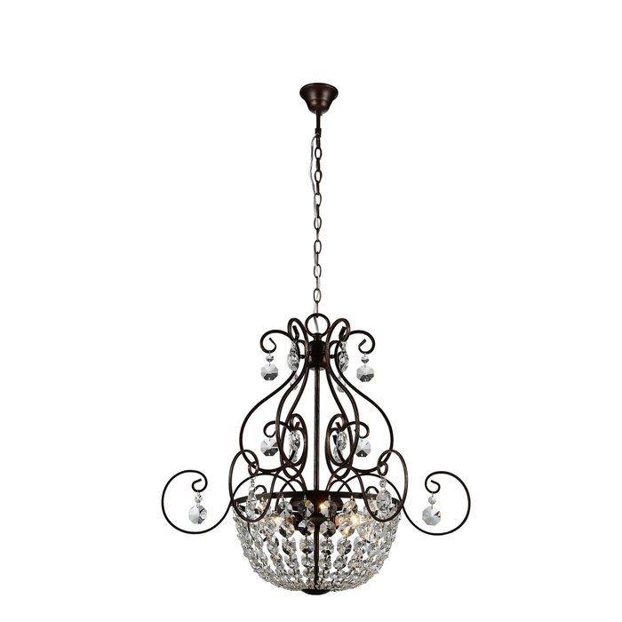 Подвесная люстра ST Luce Bellezza с декоративным плафоном из хрусталя