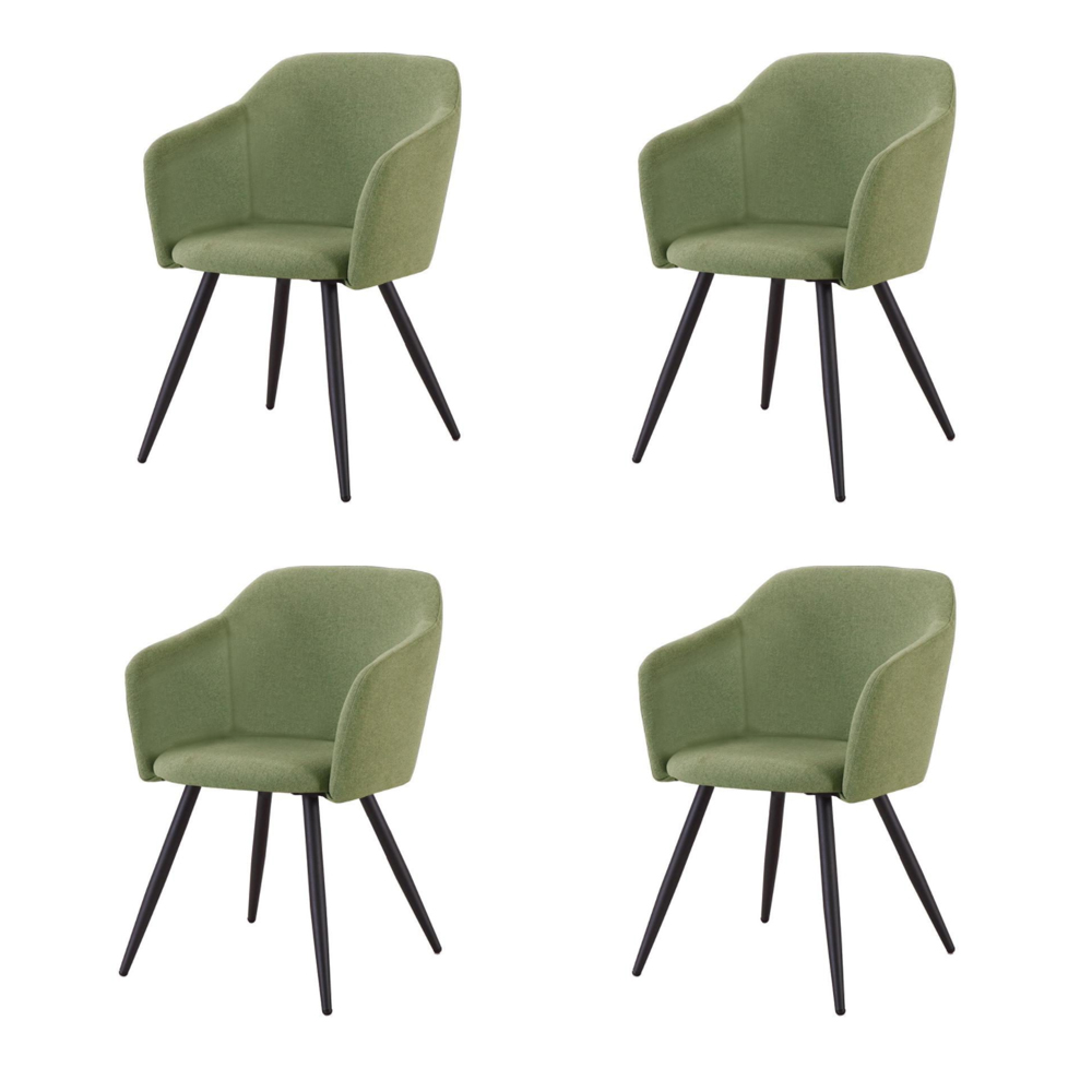 Купить Набор из четырех стульев с обивкой из ткани зеленого цвета, inmyroom, Китай
