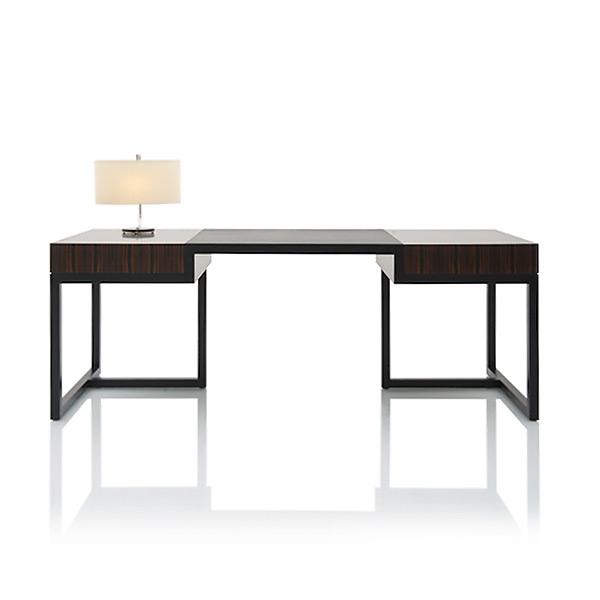 """Письменный стол Jnl """"Secretwood"""" из черного дерева макассар"""