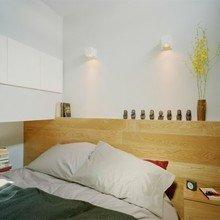 Фотография: Спальня в стиле Эко, Декор интерьера, Малогабаритная квартира, Квартира, Цвет в интерьере, Дома и квартиры, Белый – фото на InMyRoom.ru