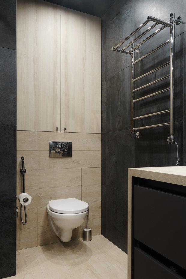 Фотография: Ванная в стиле Минимализм, Современный, Квартира, Проект недели, Пенза, 3 комнаты, Более 90 метров, Юлия Власова – фото на INMYROOM