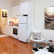 Фотография: Кухня и столовая в стиле Скандинавский, Декор интерьера, Малогабаритная квартира, Квартира, Студия – фото на InMyRoom.ru