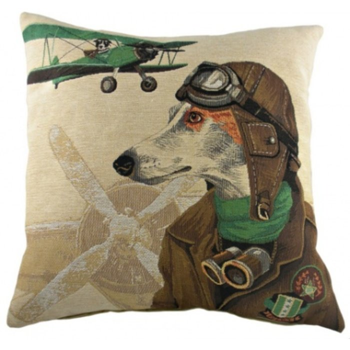 """Подушка с принтом """"Doggie Fighters Green"""""""