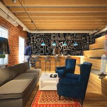 Фотография: Гостиная в стиле Лофт, Современный, Офисное пространство, Офис, Дома и квартиры – фото на InMyRoom.ru