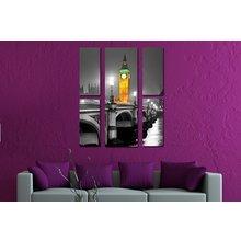 Интерьерная модульная картина на стену: Ночной Биг-Бен
