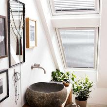 Фотография: Ванная в стиле Современный, Эко, Квартира, Декор, Советы, как выбрать жалюзи, жалюзи на окна – фото на InMyRoom.ru