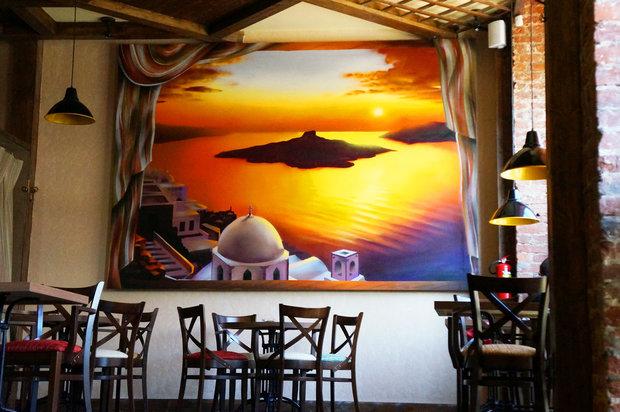 """Фото из портфолио Роспись интерьера в ресторане """"Capri"""" – фотографии дизайна интерьеров на INMYROOM"""