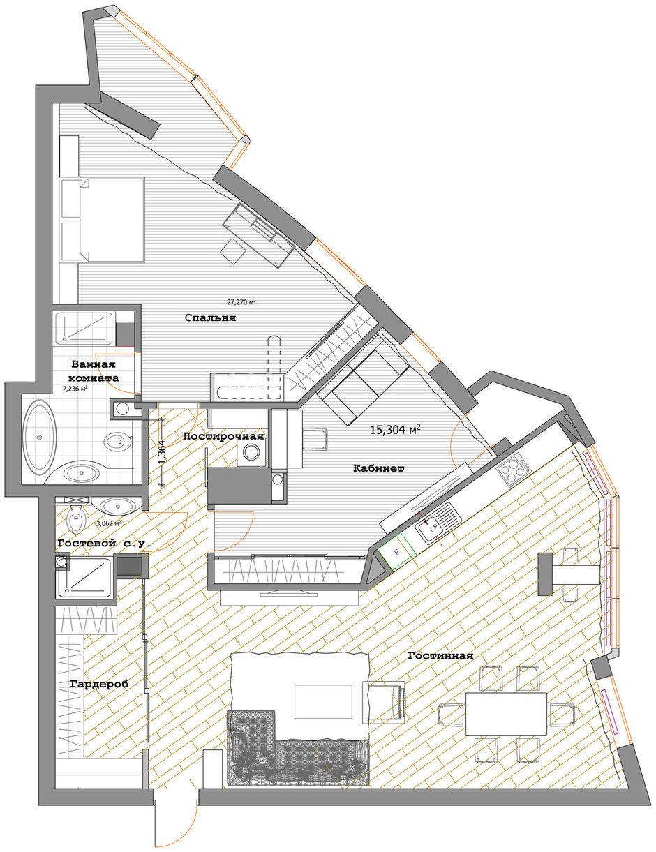 Фотография: Планировки в стиле , Квартира, Дома и квартиры, Ар-деко – фото на InMyRoom.ru