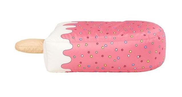 Пуф мягкий (бинбэг) с принтом Woouf! Pink Ice Cream в виде мороженого