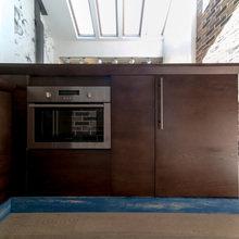 Фотография: Кухня и столовая в стиле Кантри, Лофт, Современный, Гостиная, Интерьер комнат, Дачный ответ – фото на InMyRoom.ru