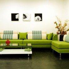 Фотография: Гостиная в стиле Современный, Декор интерьера, Квартира, Дизайн интерьера, Цвет в интерьере – фото на InMyRoom.ru