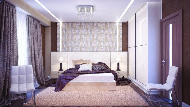 Фотография: Спальня в стиле Современный, Хай-тек, Декор интерьера, Декор, текстиль в интерьере, декор окна, выбор штор для интерьера – фото на InMyRoom.ru