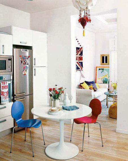 Фотография: Кухня и столовая в стиле Скандинавский, Декор интерьера, Квартира, Цвет в интерьере, Дома и квартиры, Стены – фото на InMyRoom.ru