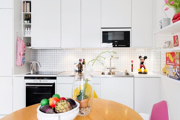 Фотография: Кухня и столовая в стиле Современный, Скандинавский, Малогабаритная квартира, Квартира, Цвет в интерьере, Дома и квартиры – фото на InMyRoom.ru