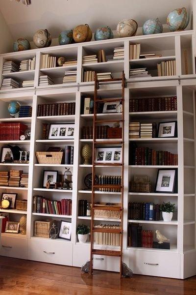 Фотография:  в стиле Современный, Хранение, Стиль жизни, Советы, Библиотека – фото на InMyRoom.ru