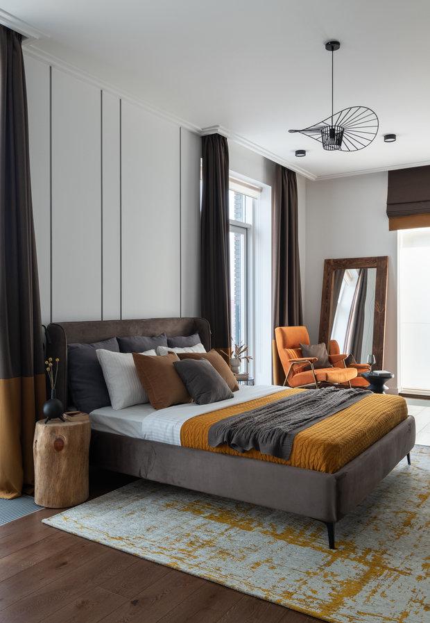 Фотография: Спальня в стиле Современный, Квартира, Проект недели, Москва, 4 и больше, Более 90 метров, Юлия Волкова – фото на INMYROOM