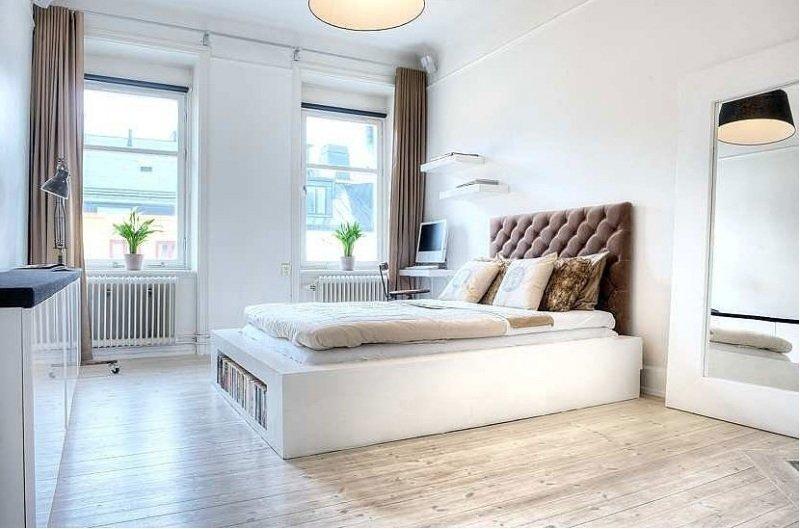 Фотография: Спальня в стиле Скандинавский, Квартира, Дома и квартиры, Стокгольм – фото на InMyRoom.ru