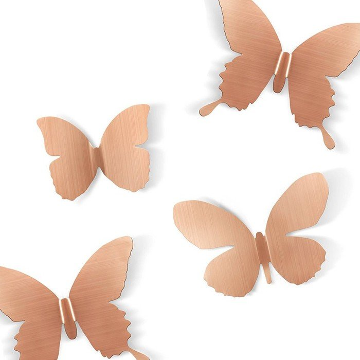 Декор для стен Бабочки бронза