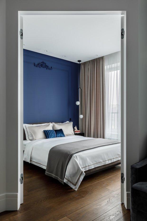 Фотография: Спальня в стиле Современный, Квартира, Проект недели, Москва, 2 комнаты, 40-60 метров, Icon Interiors, Инга Моисеева – фото на INMYROOM