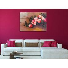Дизайнерская картина на холсте: Упавшие розы