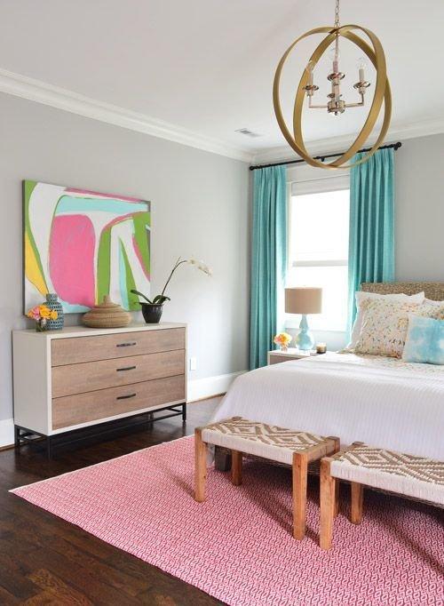 Фотография: Спальня в стиле Скандинавский, Декор интерьера, Декор, абстрактная живописть в интерьере, абстрактное искусство в интерьере – фото на InMyRoom.ru
