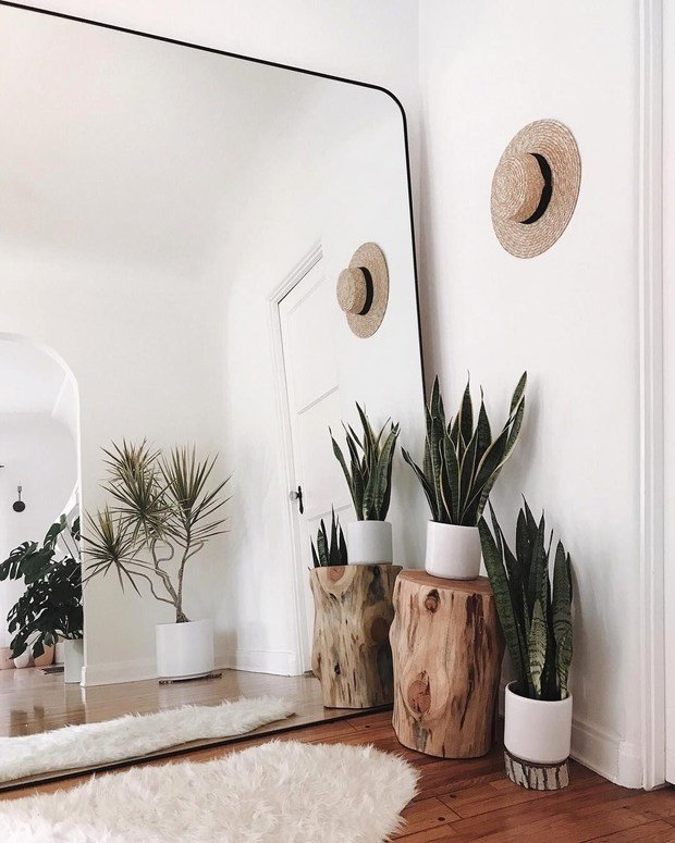 Фотография: Прихожая в стиле Скандинавский, Декор интерьера, дерево в интерьере, тренды 2019 – фото на INMYROOM