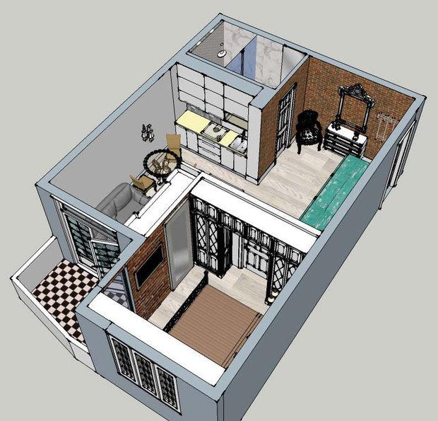 Фотография: Прочее в стиле , Гардеробная, Квартира, Хранение, Дома и квартиры, Переделка – фото на InMyRoom.ru
