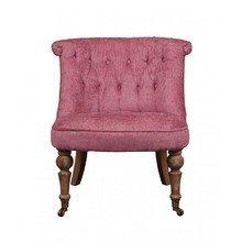 Розовое кресло из массива дуба