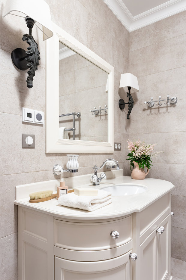 Фотография: Ванная в стиле Классический, Квартира, Проект недели, Москва, 3 комнаты, Более 90 метров, Ирина Межова – фото на INMYROOM