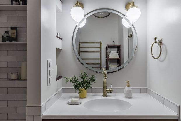 Фотография: Ванная в стиле Прованс и Кантри, Эклектика, Квартира, Проект недели, Москва, 3 комнаты, 60-90 метров, Анастасия Струве – фото на INMYROOM