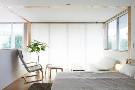 Фотография: Спальня в стиле Минимализм, Эко, Дом, Дома и квартиры, Япония – фото на InMyRoom.ru